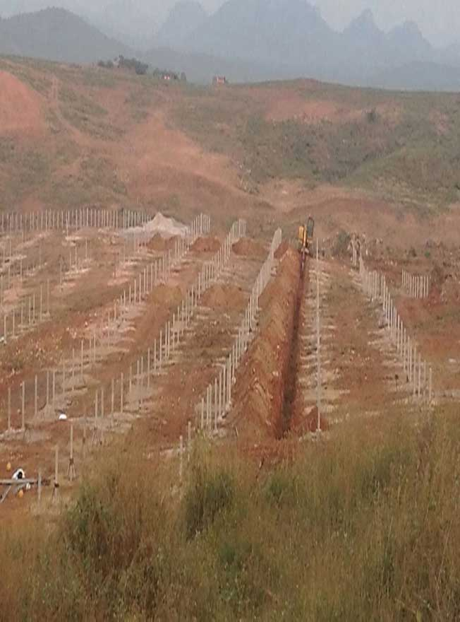 Trenching works in Progress