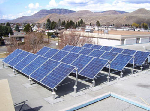 A view of Solar Roof Top system