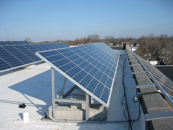 A view of Solar Roof top installed