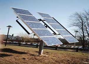 Sun tracking ground mounted solar PV installation