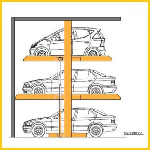 Three Level Stack Parking