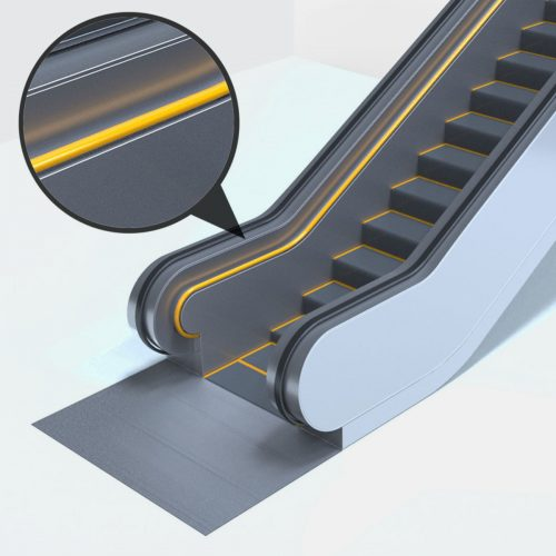 Escalator Handrail Guides